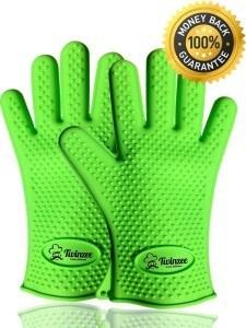 gants anti chaleur silicone twinzee